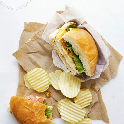 SmashChicken Classic Sandwich via Real Food by Dad