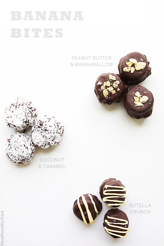 Grab the tips and tricks for making these chocolate covered banana bites | Real Food by Dad