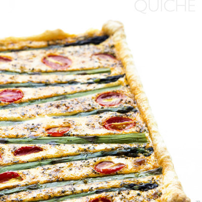 Easy Aspargus Quiche via Real Food by Dad