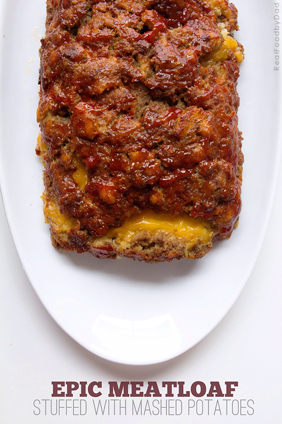 Stuffed Meatloaf with Mash Potatoes | Real Food by Dad