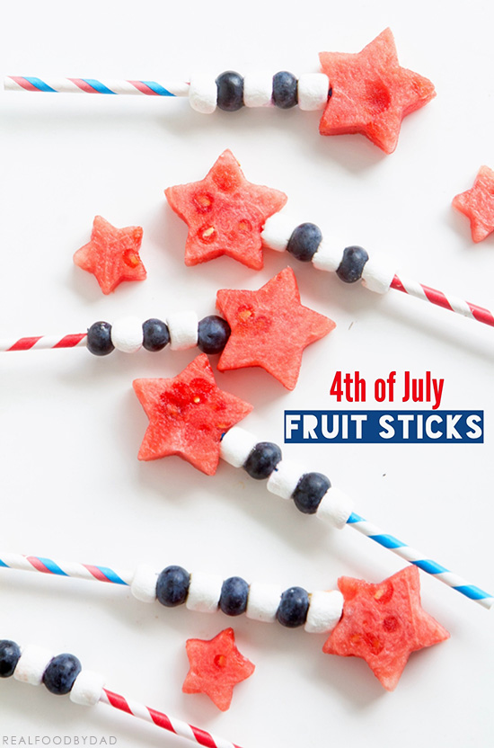4th of July Fruit Sticks f| Real Food by Dad