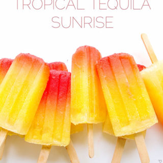 Tropical Tequila Sunrise Popsicles via Real Food by Dad