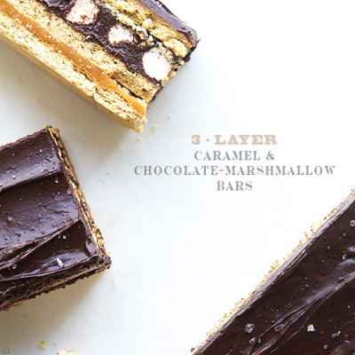Layer Caramel and Chocolate Marshamllow Bars by Real Food by Dad