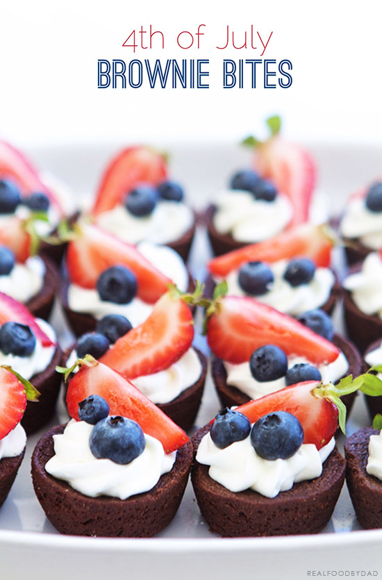 4th of July Brownie Bites from Real Food by Dad