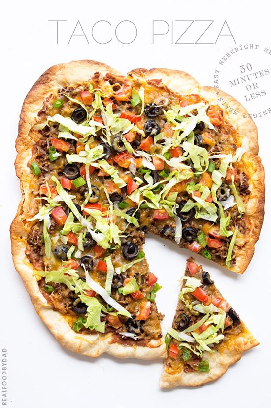 Taco Pizza via Real Food by Dad