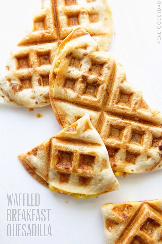 Waffled Breakfast Quesadilla by Real Food by Dad