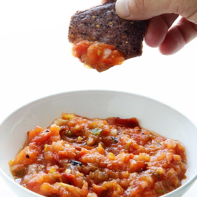 Fire Roasted Salsa via Real Food by Dad
