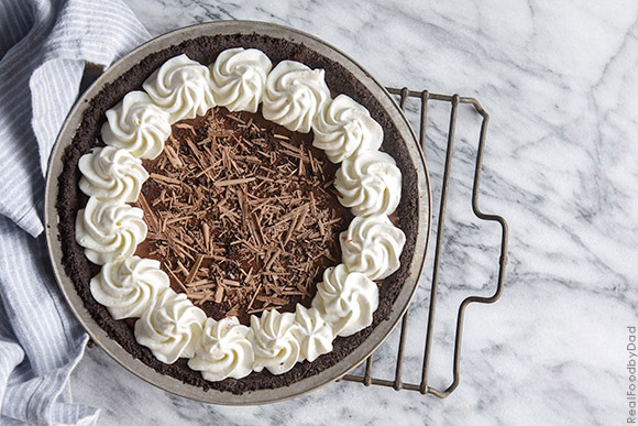 Chocolate and Peanut Butter Pie with Real Food by Dad copy