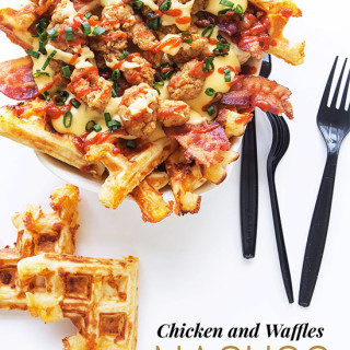 Chicken and Waffles Nacho   Real Food by Dad