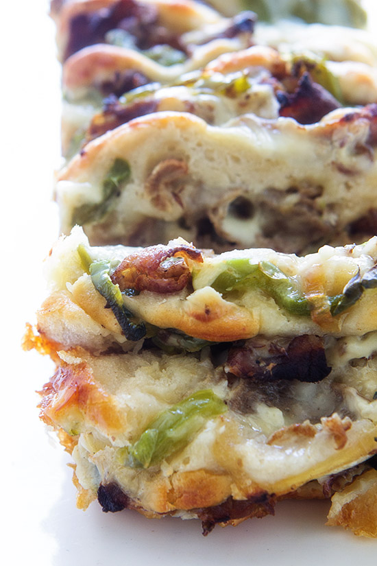 Philly Cheese Steak Pull-Apart Bread | Real Food by Dad