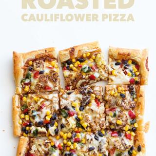 Southwestern Roasted Cauliflower Pizza via Real Food by Dad