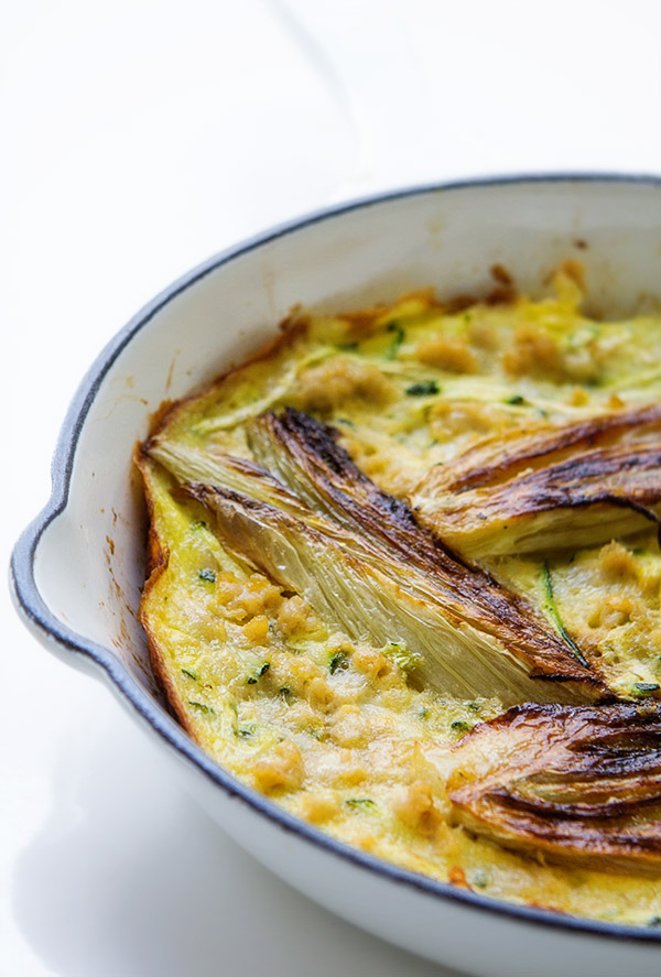 Chicken, Zucchini, Fennel Frittata via Real Food by Dad
