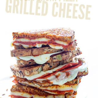Pepperoni Pizza Grilled Cheese via Real Food by Dad