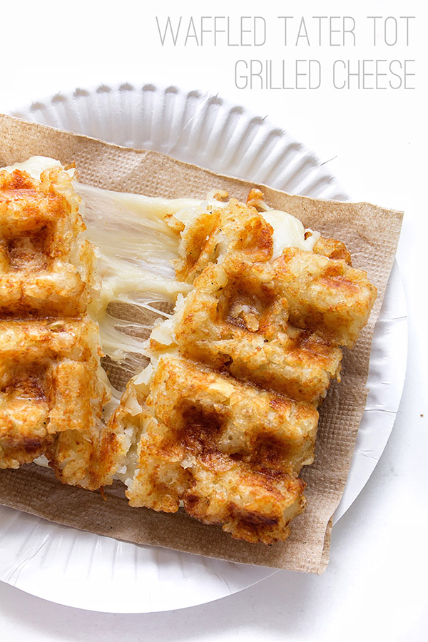 Waffled Tater Tot Grilled Cheese _ Real Food by Dad
