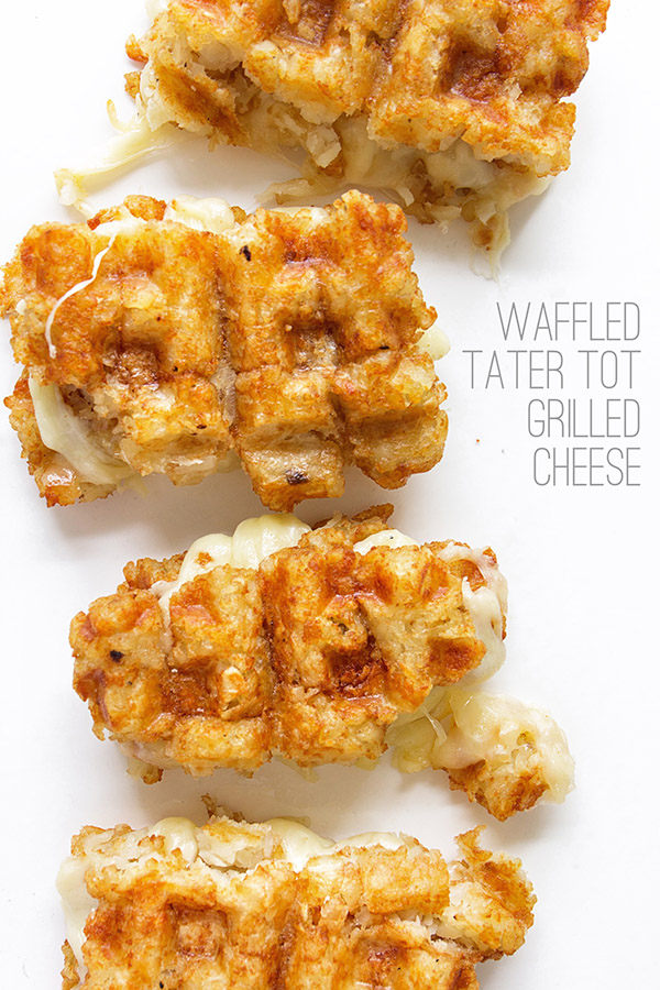 Waffled Tater Tot Grilled Cheese via Real Food by Dad
