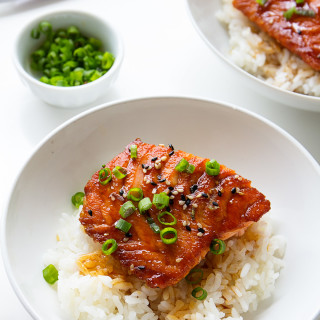 salmon terriyaki via real food by dad
