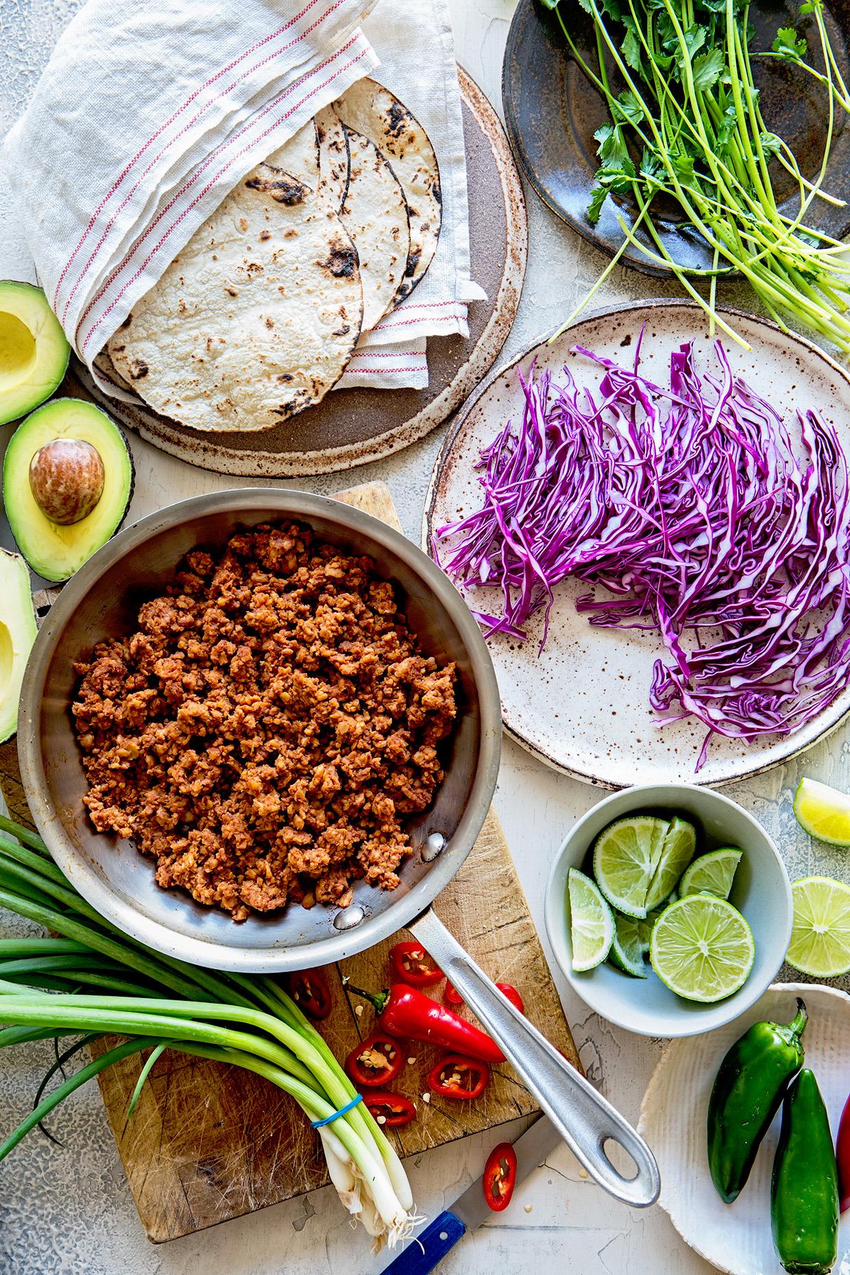 Tempeh Tacos   Ingredients   Real Food by Dad copy