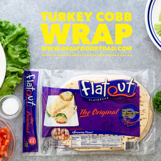 Turkey Cobb Wrap Real Food by Dad