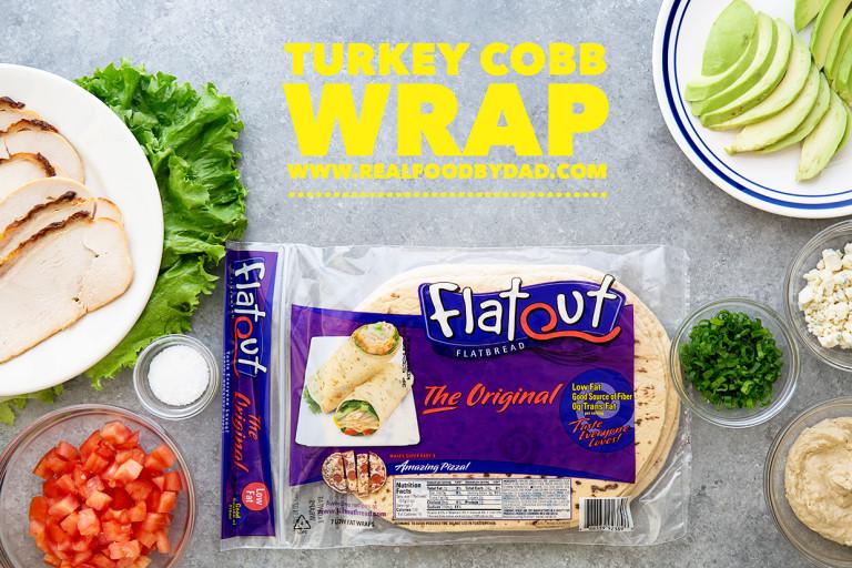 Turkey Cobb Wrap Real Food by Dad