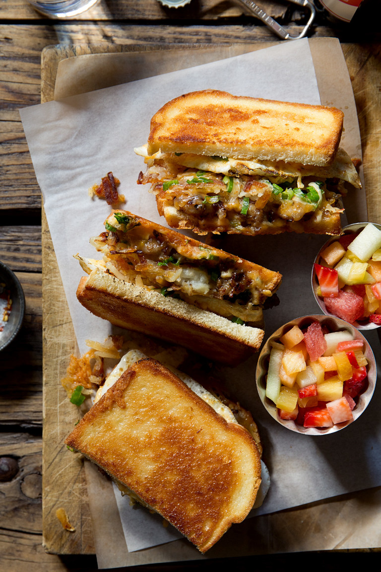Breakfast Grilled Cheese via Real Food by dad