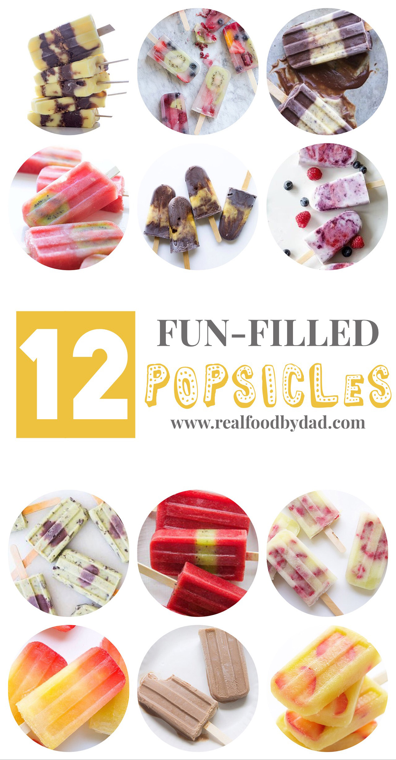 12 Boozy Pops via Real Food by Dad