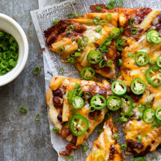 Chili Cheese Fries Pizza via Real Food by Dad