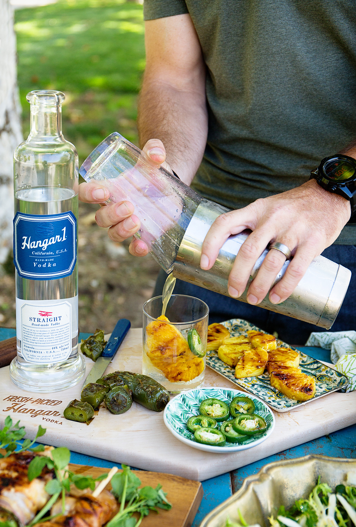 Grilled Pineapple and Jalapeno Caipiroska | Real Food by Dad