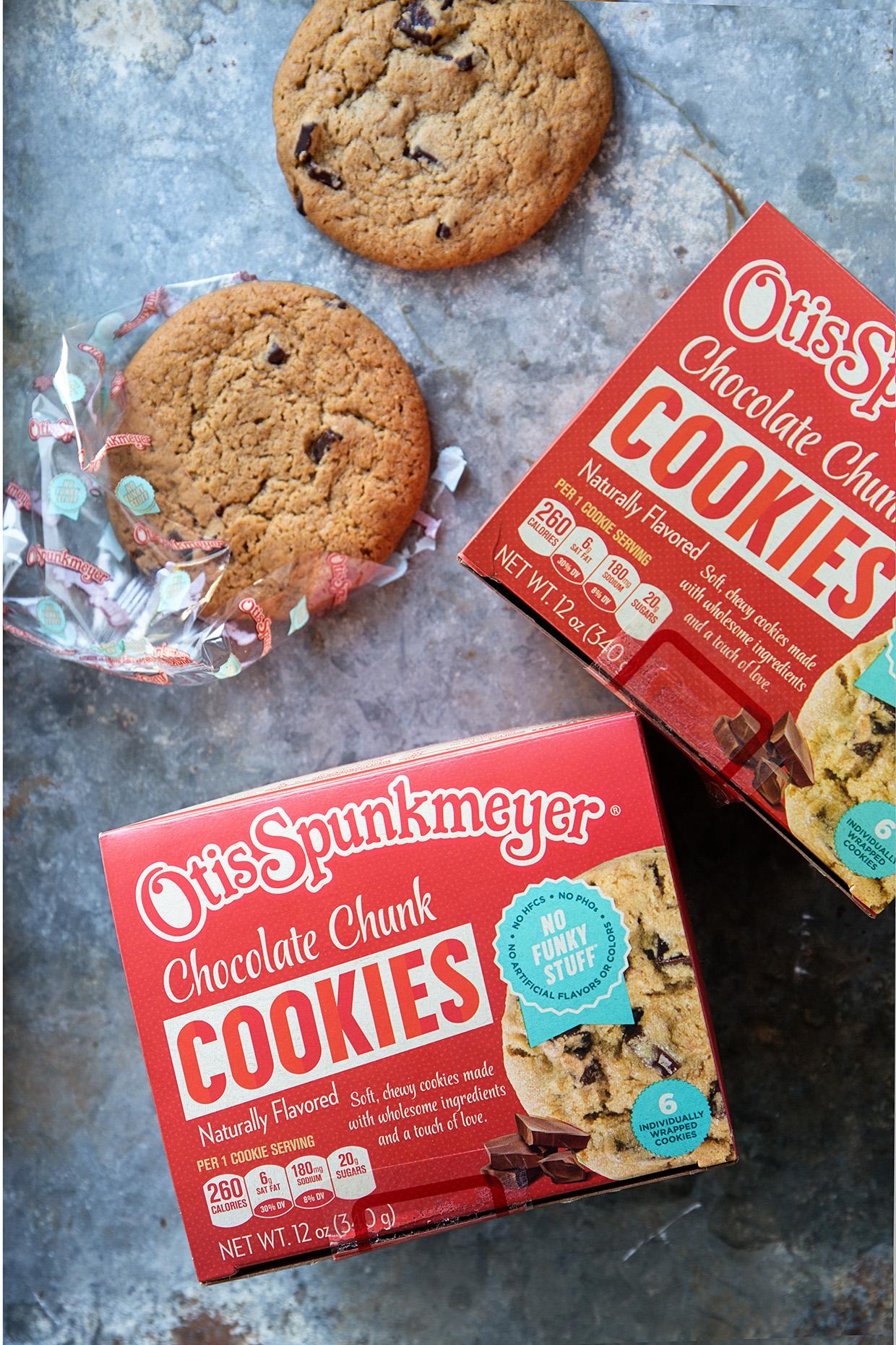 Otis Spumkmeyer Chocolate Chunk Cookies via Real Food by Dad
