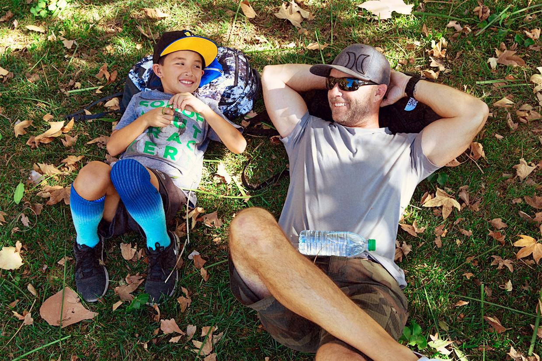 Cole and Matt on Grass Horizontal