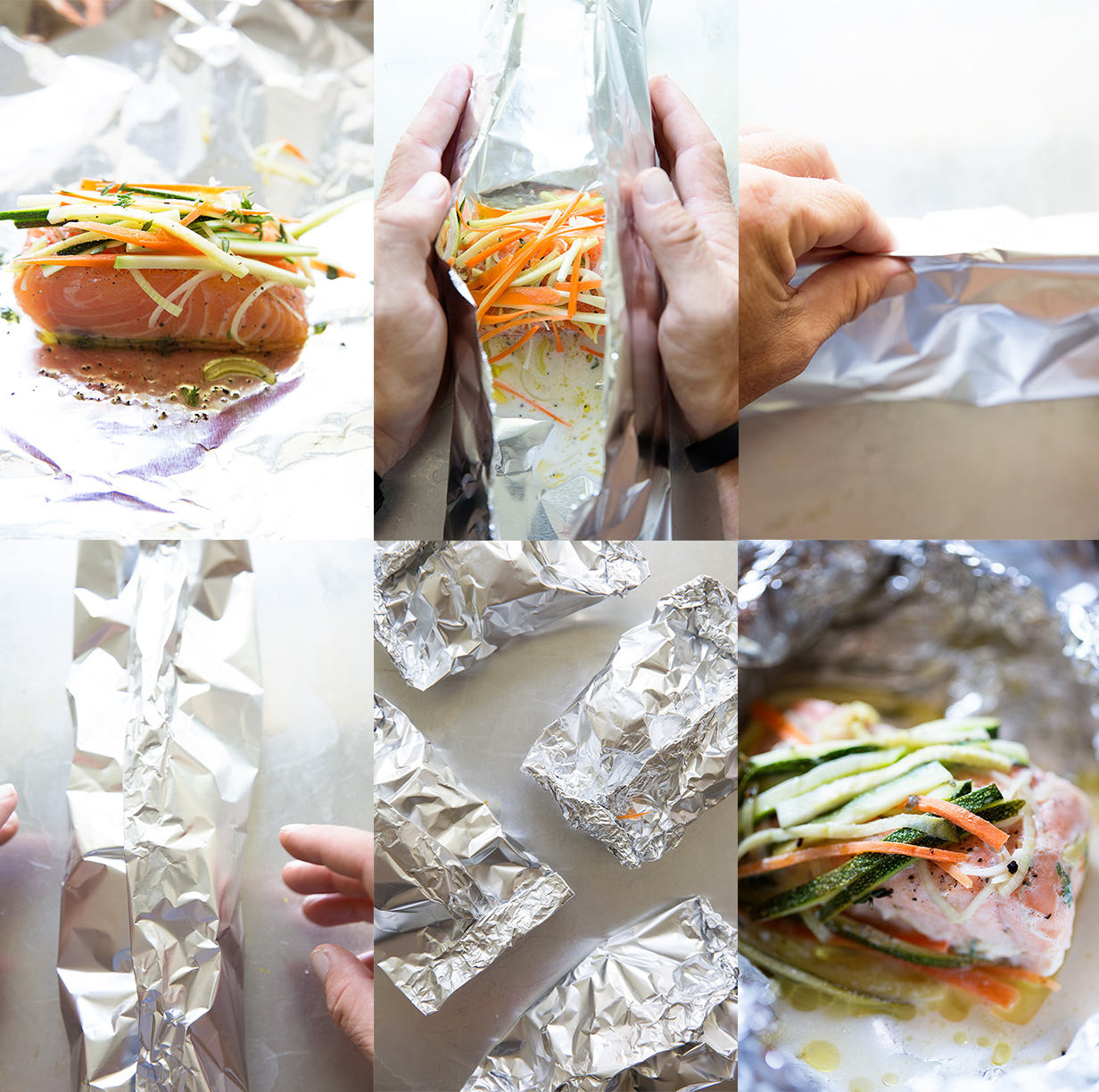 Salmon and Veggies in Foil Pack | Assembly | Real Food by Dad
