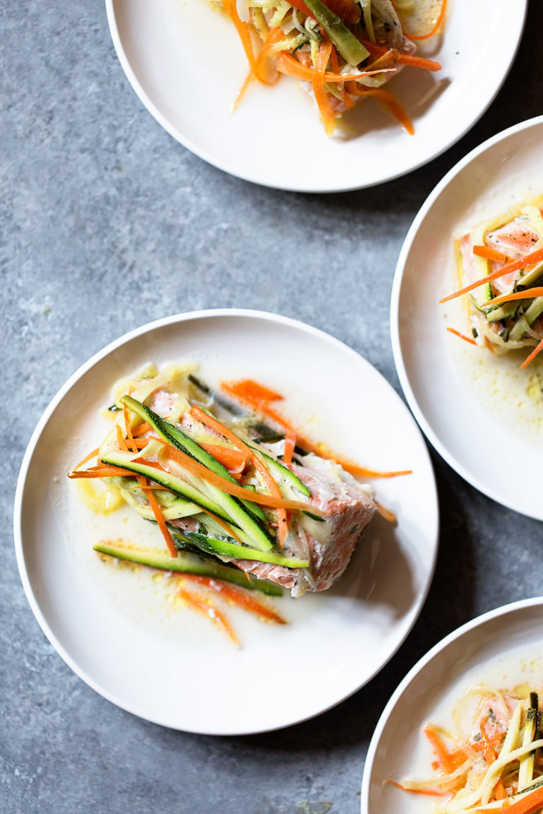 Salmon and Veggies in Foil Packs via Real Food by Dad