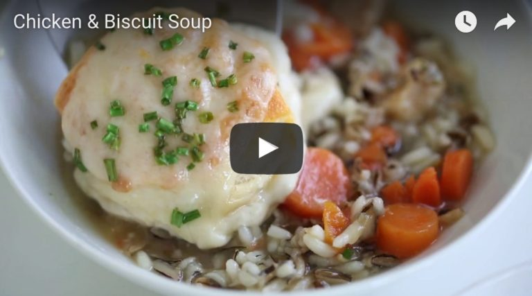 chicken and biscuit soup