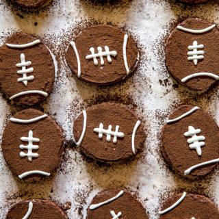 Brown Bottom Rice Krispie Football Treats via Real Food by Dad