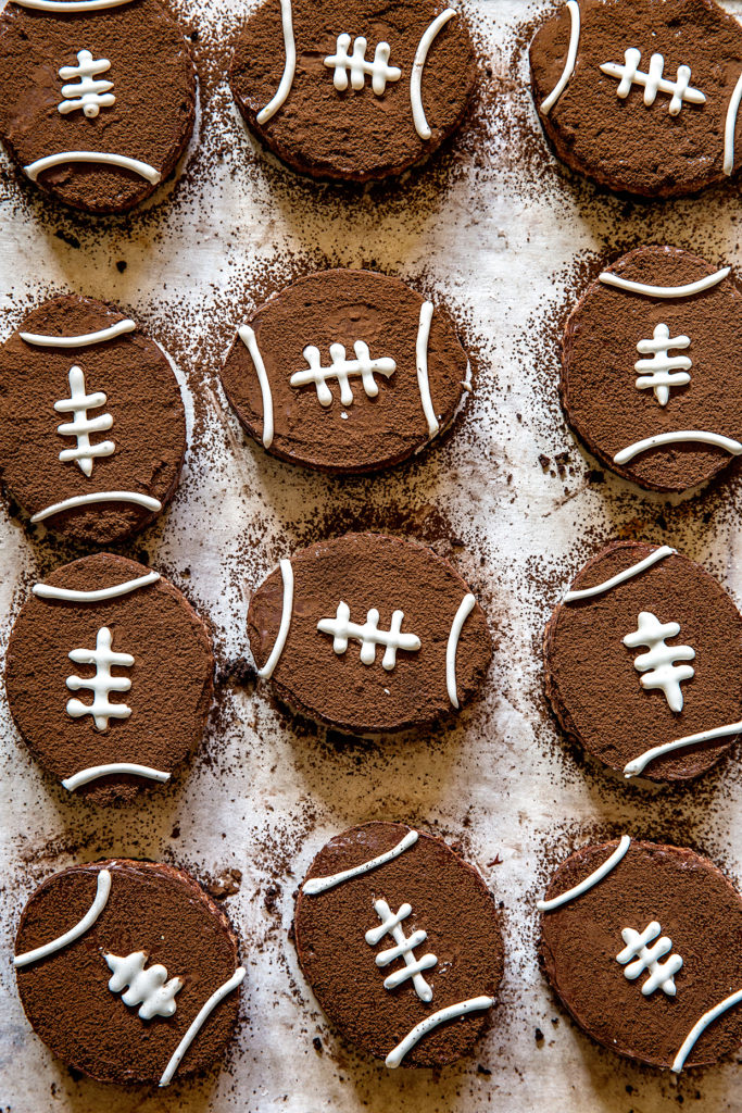 Brown Bottom Rice Krispie Football Treats via Real Food by Dad