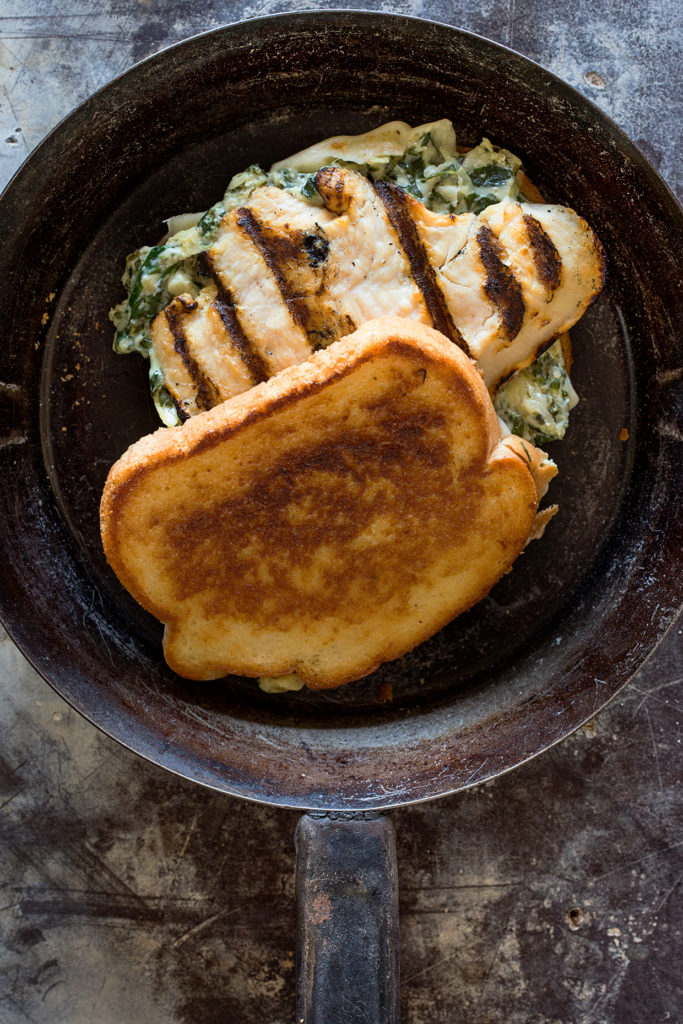 Spinach and Artichoke Grilled Chicken Melt via Real Food by Dad