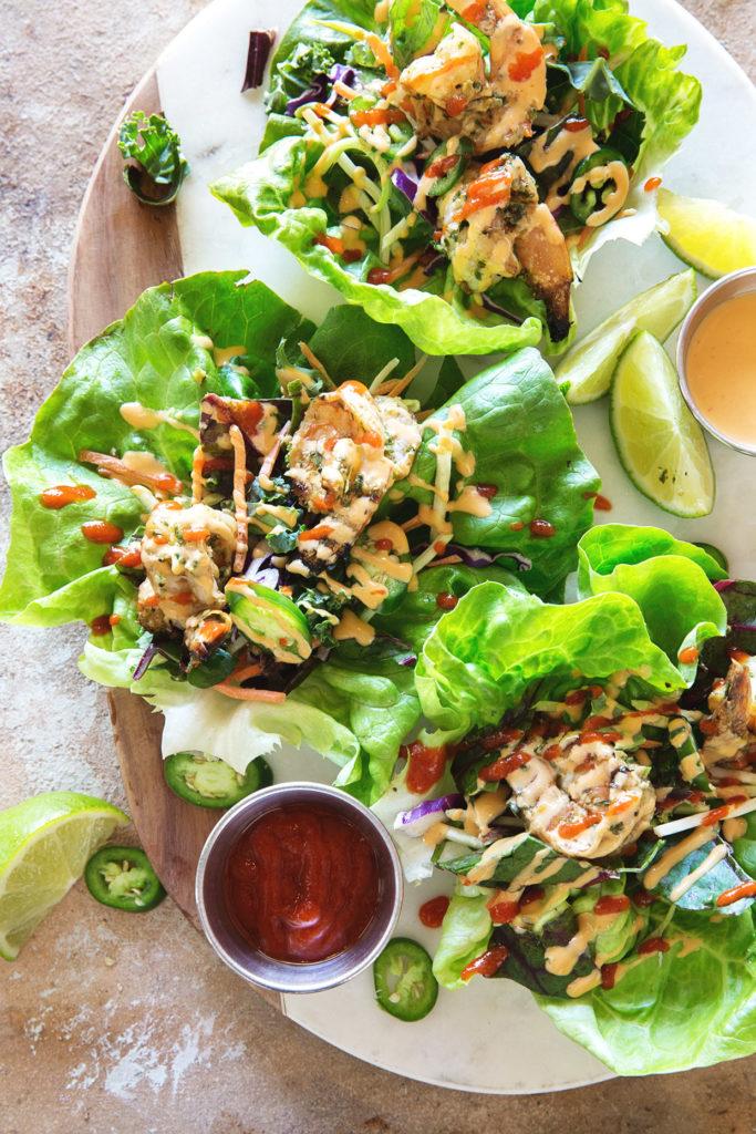 Grilled Shrimp Lettuce Wraps via Real Food by Dad