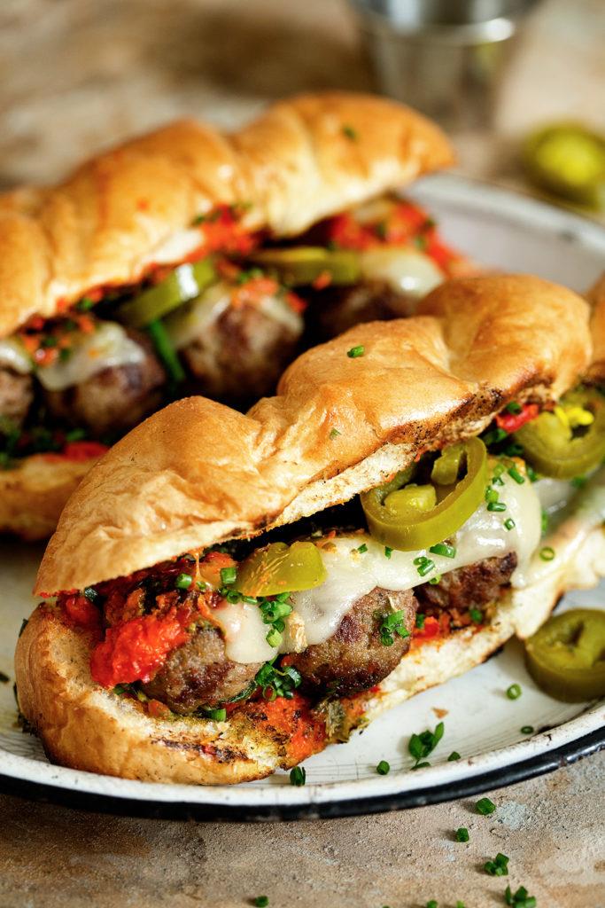 Grilled Meatball Sandwich via RealFoodbyDad
