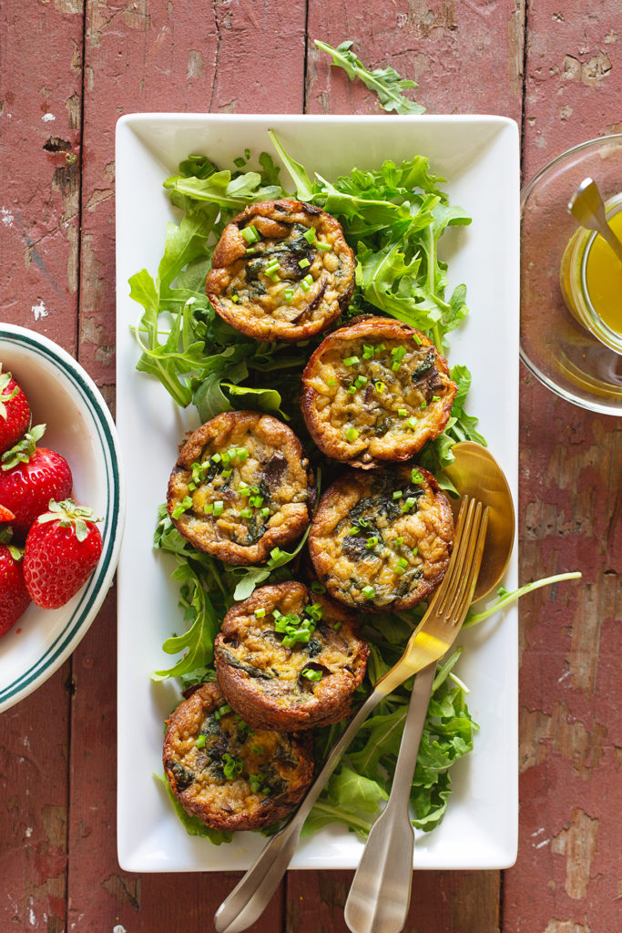 Mini Mushroom and Spinach Quiche via Real Food by Dad