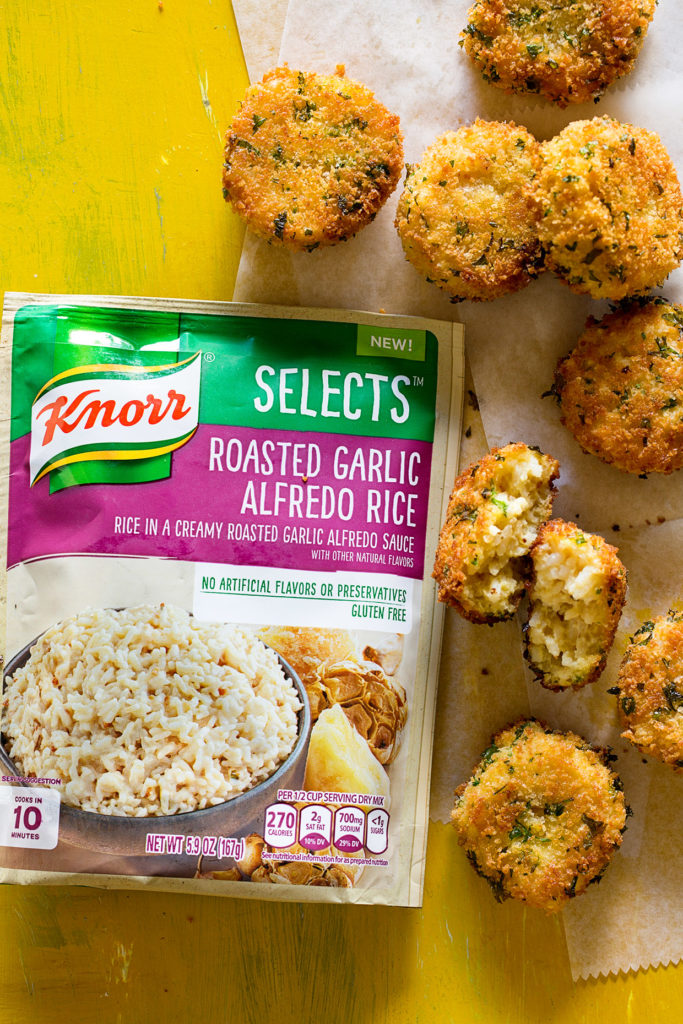 Roasted Garlic Alfredo Rice Cakes via Real Food by Dad