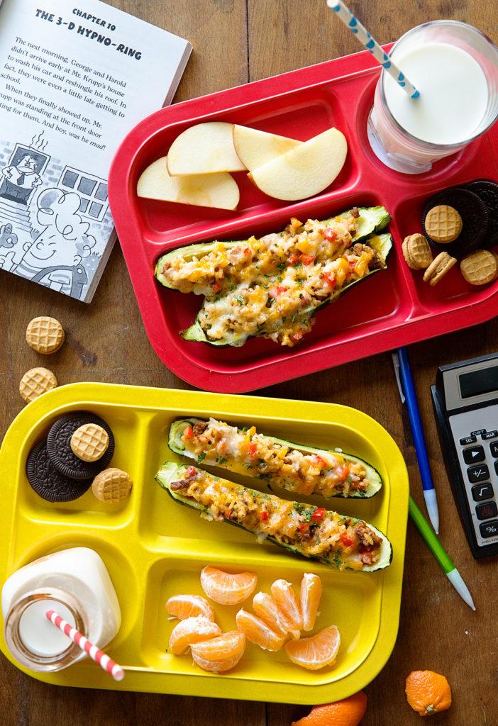 Sausage and Pepper Zucchini Boats copy