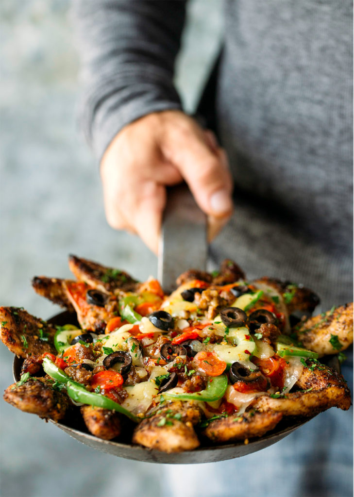 Meat Lovers Pizza No Carbs via Real Food by Dad