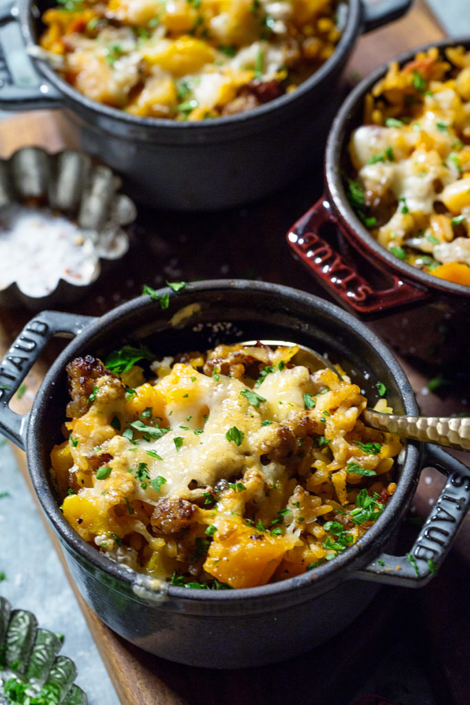 Butternut Squash and Sausage Rice Casserole Real Food by Dad