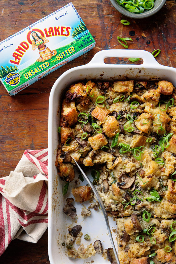 Mushroom and Sausage Breakfast Casserole Real Food by Dad copy