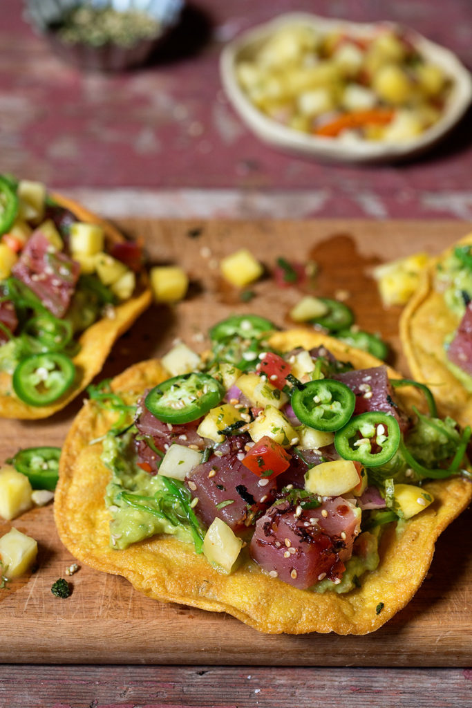 Poke Tostada Real Food by Dad