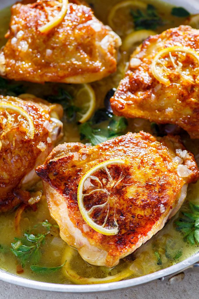 Chicken Thighs with Lemon and Oregano via Real Food by Dad