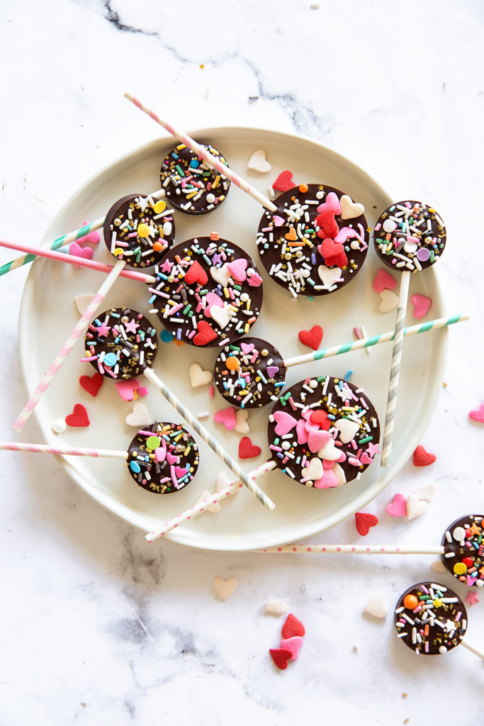 Valentines Chocolate Pops via Real Food by Dad