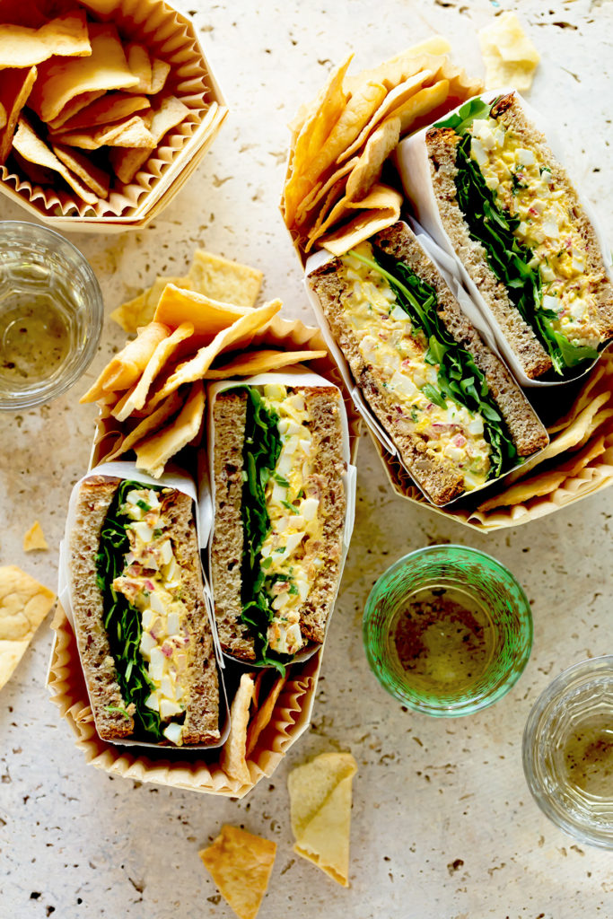 A modern update to the classic egg salad recipe, click through to see what was used in place of the traditional mayonnaise.