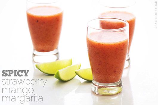Spicy Strawberry Mango Margarita