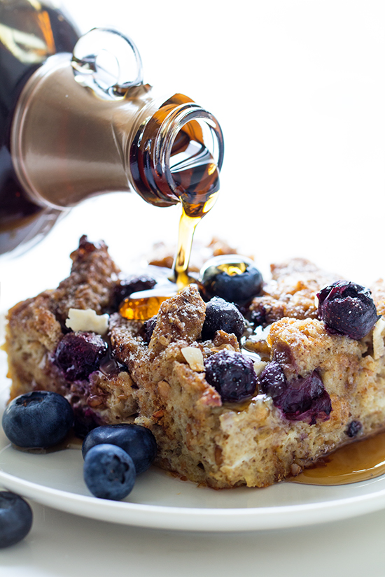 Blueberry Lemon French Toast Casserole