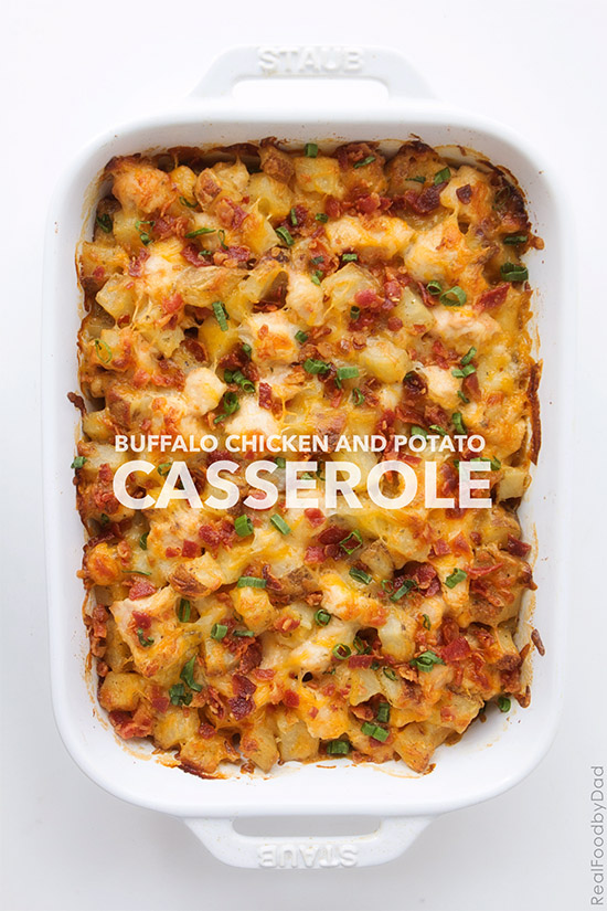 Buffalo Chicken and Potato Casserole